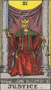 Justice tarot image